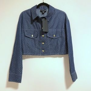 Stylestalker Deni Polka Dot Denim Button Down